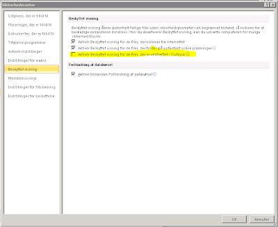 Problemer med at åbne word og excel filer på terminalserver fra outlook