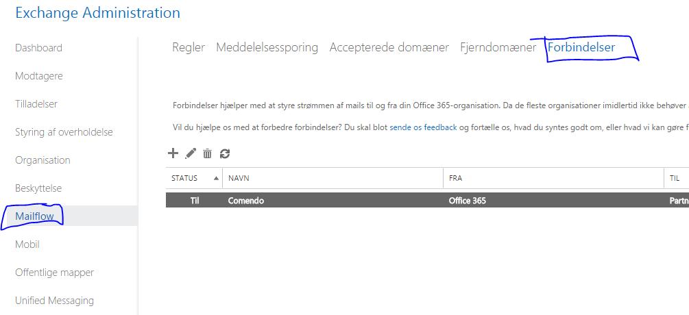 Sådan sender du via comendo/fusemail i office 365