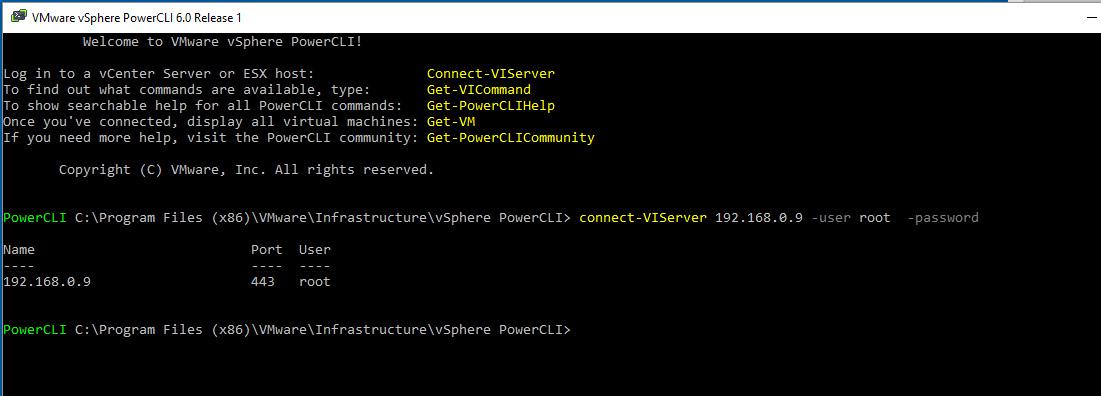 Login Power Cli vmware