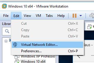 kan ikke gå på nettet med vmware workstation