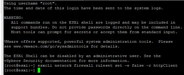 Opdatering af VMware via internettet