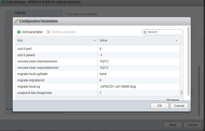 Kan ikke slette snapshot på Vmware maskine