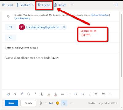 Kryptering af mails i office 365