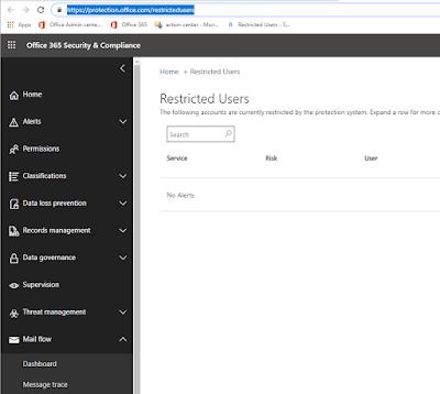 Office 365 bruger er spærret for at sende pga af misbrug