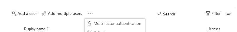 Reset Office 365 2-way authentication